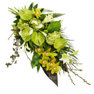 rouwboeket speciaal groen